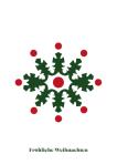 Weihnachtskarte Bunte Schneeflocke