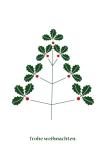 Weihnachtskarte Weihnachtsbaum Eiche