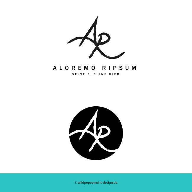 Logoentwurf typografisch, © wildpepeprmint-design.de
