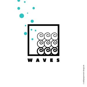 Logo Wellen, Maritim © wildpeppermint-design.del
