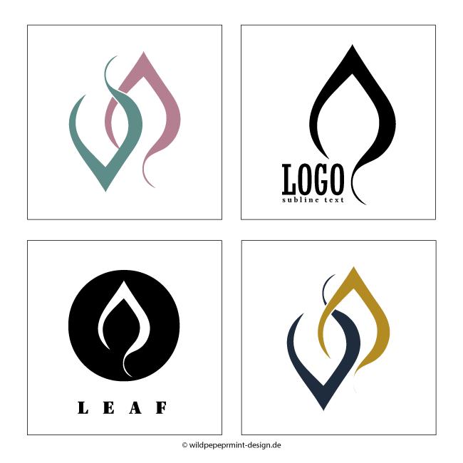Logos Blatt, © wildpeppermint-design.del