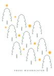 Motiv-29 - Tannenwald mit Sternen, wildpeppermint-design.de