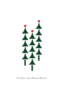 Motiv-31 Drei Weihnachtsbäume, wildpeppermint-design.de