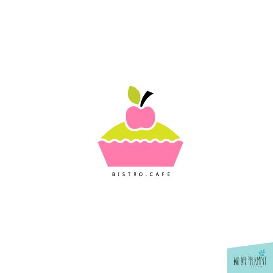 Logo Coffeeshop, Logos, Bäckerei, Bistro, Muffin-Shop, Cupcakes, Kuchen, Candystore, Süßigkeiten, Naschwerk, Backwerk, © wildpeppermint-design.de