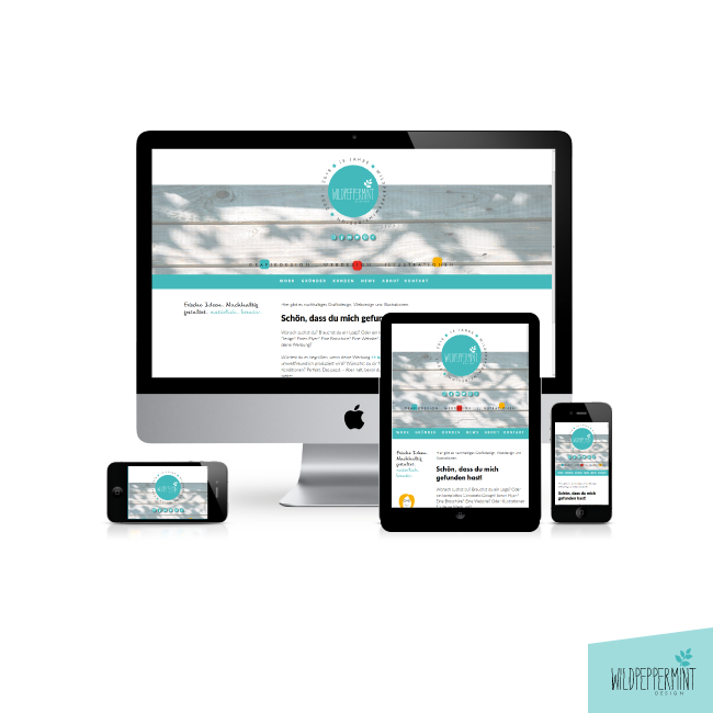 website, webdesign, wildpeppermint-design.de, weblayout, responsive, mobilfriendly, moderne website,