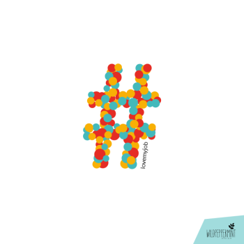 Illustration hashtag-lovemyjob, hashtag, lovemyjob, grafikdesign, © wildpeppermint-design.de