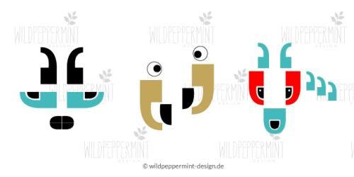 """Illustrationen, Kollektion """"Statements"""", grafische Illustrationen, Tiere, Humor, © wildpeppermint-design.de"""