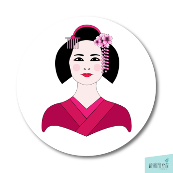 Avatar-Geisha, Illustration Portrait, © wildpepeprmint-design.de