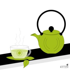 Grüntee, grüner Tee, Instagram Challenge #eineFarbereicht, © wildpeppermint-design.de