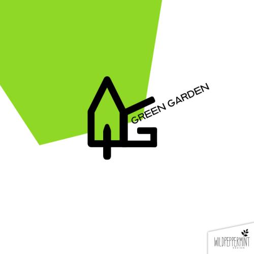 Logo Green Garden, Logoidee, Logos, Logos Gartenbau, Logo Gärtner, grünes Logo, Logo Flatdesign, günstige Logos, © wildpepeprmint-design.de