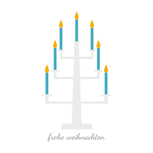 Weihnachtskarte Kerzenständer© wildpeppermint-design.de