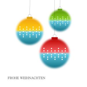 Weihnachtskarte Kugeln © wildpeppermint-design.de