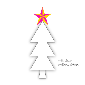 Weihnachtskarte Tannenbaum mit Stern© wildpeppermint-design.de
