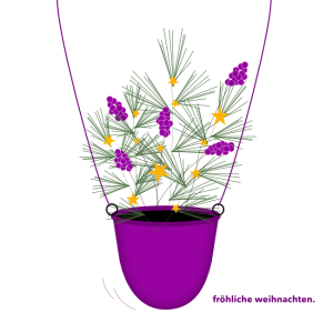 Weihnachtskarte Kiefernzweige© wildpeppermint-design.de