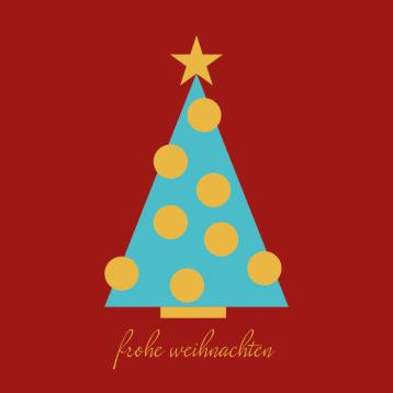 Weihnachtskarte Kugelbaum 2019, © wildpeppermint-design.de