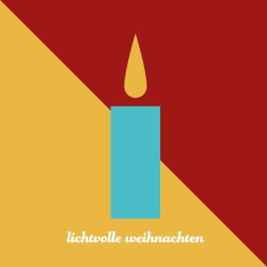 umweltfreundliche Weihnachtskarte, kerze, minimal, wildpeppermint-design.de