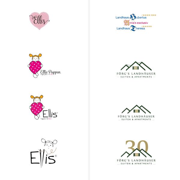 Logo ReDesign, Logo Entwicklung, Logogestaltung, Logo Handmade Puppen, Logo Ferienhäuser