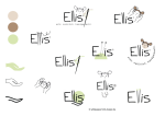 Logo Entwürfe, Scribbles, Elemente, Logo Ideen für Ellis Puppen, wildpeppermint-design.de