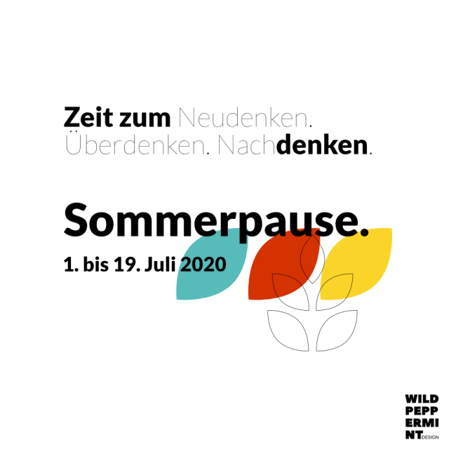 Sommerpause wildpeppermint-design