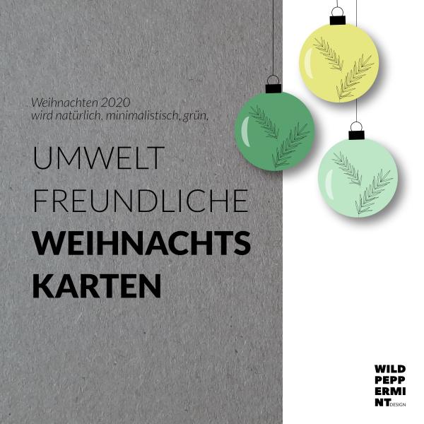 Weihnachtskarten Business, Firmen Weihnachtskarten, umweltfreundlich, Öko-Weihnachtskarten, natürlich, minimal, grün, wildpeppermintDesign