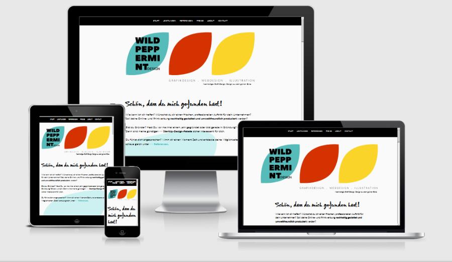 mockup, website wildpeppermint-design