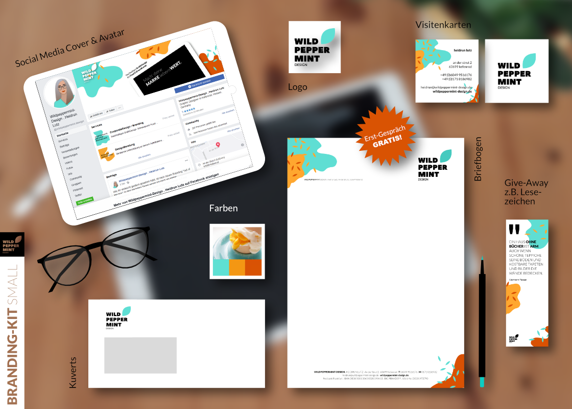 Branding-Kit, Corporate Design, Nachhaltiges Grafikdesign, Markendesign, Design-Paket