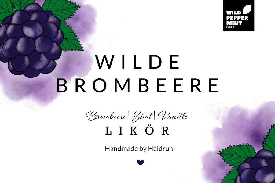 Label Brombeer-Likör